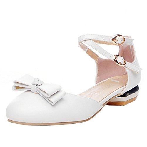 TAOFFEN Women Low Heel Sandals White-7 II7f1Frm0