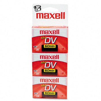 Maxell 298016 Mini DV Cassettes 3 Count by MAXLL