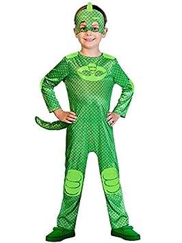 DISBACANAL Disfraz Gekko PJ Masks para niño - Único, 7-9 años