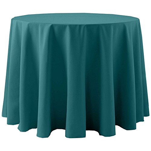 Ultimate Textile (10 Pack) Cotton-feel 60-Inch Round Tablecloth - for Wedding and Banquet, Hotel or Home Fine Dining use, Teal