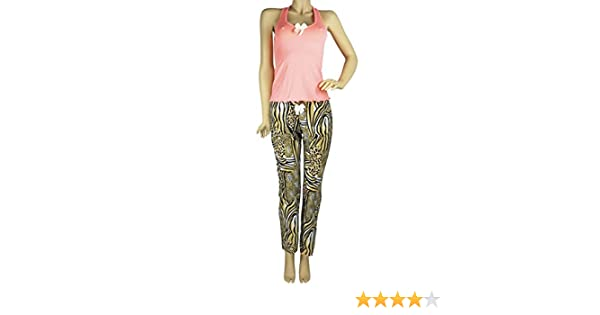 Hipnys Sleepwear PAS01 PJ Sets for Women Tank Top Pajamas & Pants Sleeveless PJs at Amazon Womens Clothing store: