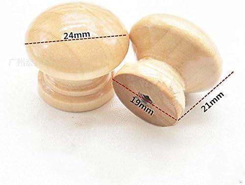 SevenMy Mini-Knauf Zuggriff Holz T/ür 20 St/ück rund f/ür Schrank Schublade Schrank 2,5 x 2,2 cm