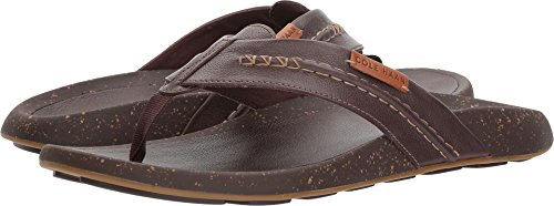 Cole Haan Mens Brady Thong Sandal Chestnut Leather 11 D - Medium