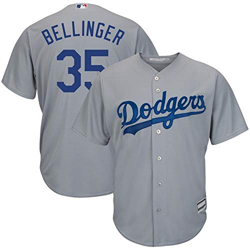 VF LSG Cody Bellinger Los Angeles Dodgers Cool Base Player Replica Jersey #35- Gray M