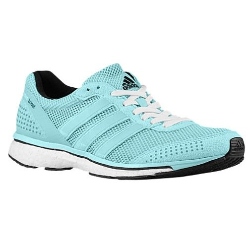 adidas Womens Adizero Adios Boost 2, Mint/White, 11 B