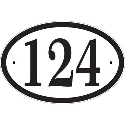 Address Sign - Personalized Oval Address Plaque - Displays Your House Number - Wall Mount -Optional Lawn Stake CO69 ()