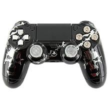Chrome Skulls 187 & Black Chrome PS4 Custom Modded Controller Exclusive Design - COD Ready...