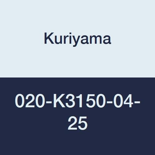 Yarn 020 (Kuriyama 020-K3150-04-25 CLEARBRAID K3150 Series RF Standard Wall Clear Yarn Reinforced PVC Food and Beverage Hose, 1/4