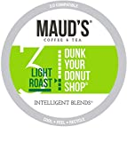 Maud's Light Roast Coffee, (Donut Shop), 100ct. Recyclable Single Serve Coffee Pods/Capsules- Richly satisfying arabica beans California Roasted, k-cup compatible including 2.0