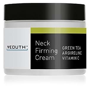 YEOUTH Neck Cream for Firming, Anti Aging Wrinkle Cream Moisturizer, Skin Tightening, Helps Double Chin, Turkey Neck Tightener, Repair Crepe Skin with Green Tea, Argireline, Vitamin C - GUARANTEED