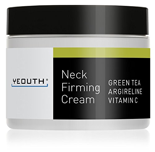 YEOUTH Neck Cream for Firming, Anti Aging Wrinkle Cream Moisturizer, Skin Tightening, Helps Double Chin, Turkey Neck Tightener, Repair Crepe Skin with Green Tea, Argireline, Vitamin C - GUARANTEED - Neck Cream