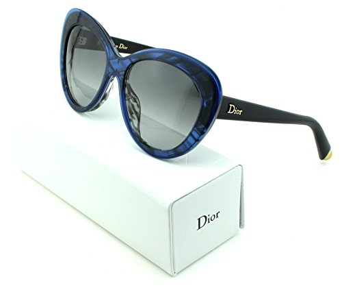 Dior Promesse 1 Cateye Women Sunglasses (Blue Frame, Gray Gradient Lens - Blue Sunglasses Dior