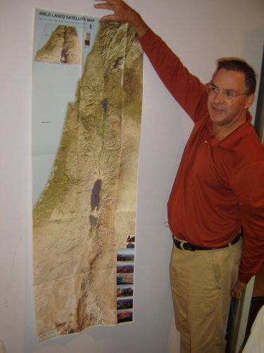 Satellite Map of Bible Lands / Historical Geography of the Bible / 3D view showing regions and relative elevations / 2013 Print / by William Schlegel