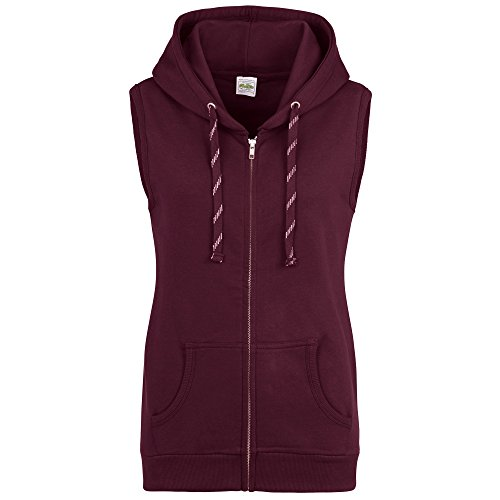 AWDis Just Hoods Womens/Ladies Girlie Sleeveless Full Zip Hoodie (8 US) (Ladie Full Zip Hoody)