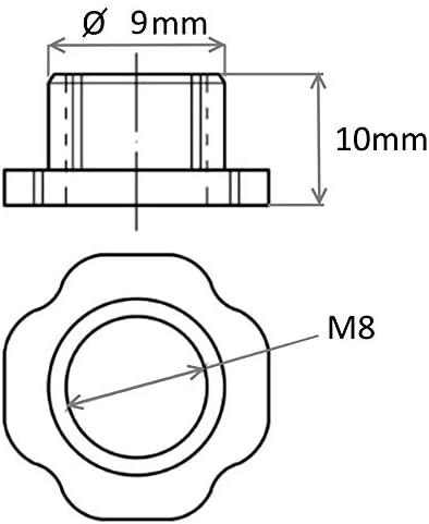 M6 10x Tuercas de p/úas para clavar de fijaci/ón montaje patas ajustables de muebles AERZETIX