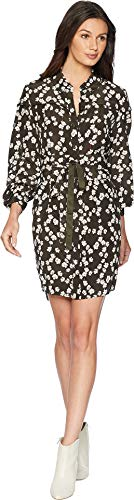Juicy Couture Women's Soft Woven Abbey Floral Silk Shirtdress Lost Labrynth Abbey Floral X-Large - Silk Woven Belt