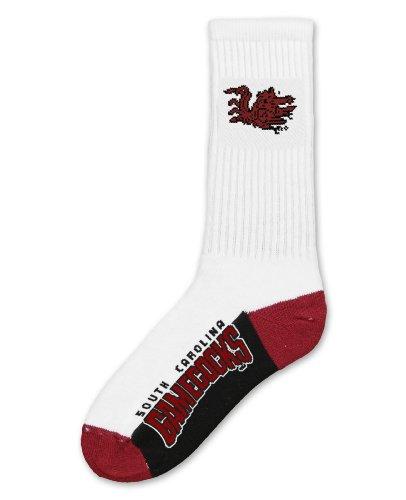 NCAA South Carolina Fighting Gamecocks Men's Crew Socks, Large - South Carolina Fighting Gamecocks Rubber