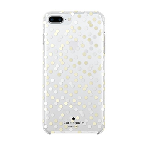 kate spade new york Protective Hardshell Case for iPhone 8 Plus - also compatible with iPhone 7 Plus - Confetti Dot Clear / Gold Foil / Silver