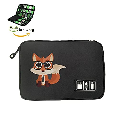 Fox with Glasses Portable Electronics Accessories Bag Organizer Case Bag Portable Case For USB - 1p Suits