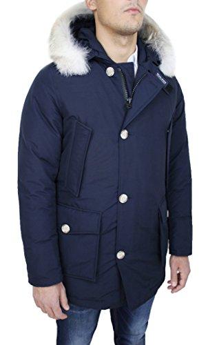 Piuma Arctic Wocps1674 Parka Woolrich Art Blu Giaccone D'oca Uomo Cordura In T1zCxwx