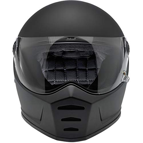Biltwell Lane Splitter Helmet (X-LARGE) (FLAT BLACK)
