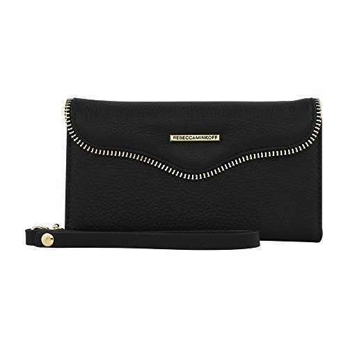 Rebecca Minkoff M.A.B. Tech Wristlet for iPhone 8 & iPhone 7 - Black Leather (Version 2)