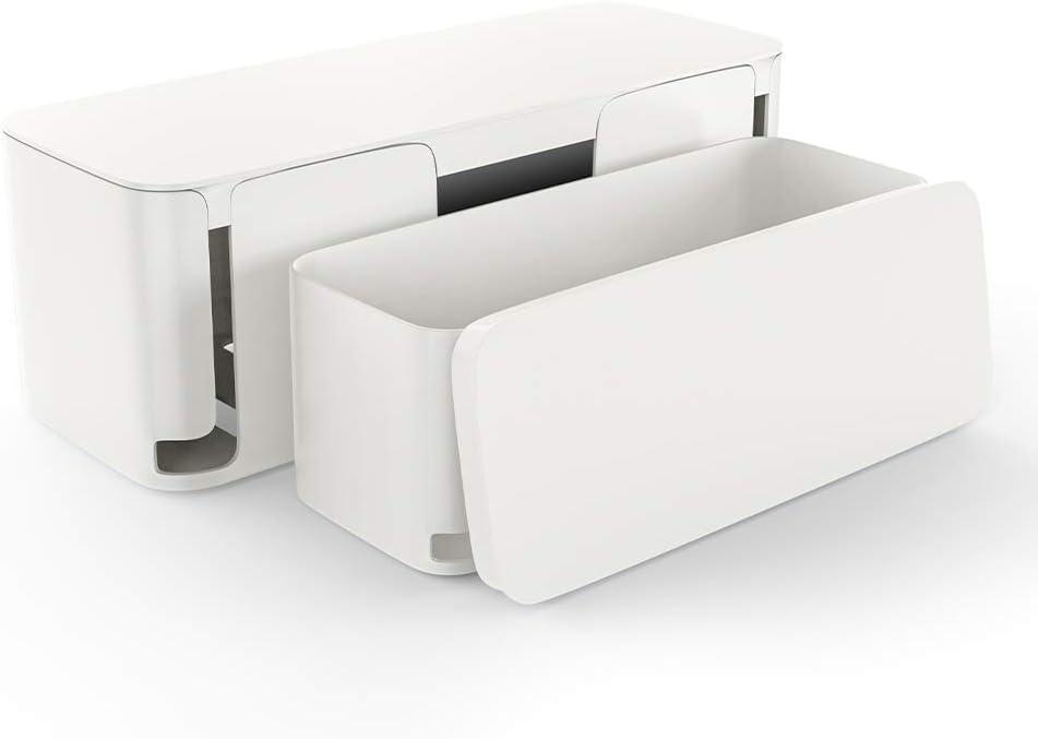 color blanco 2 unidades Caja organizadora para cables MUDEELA