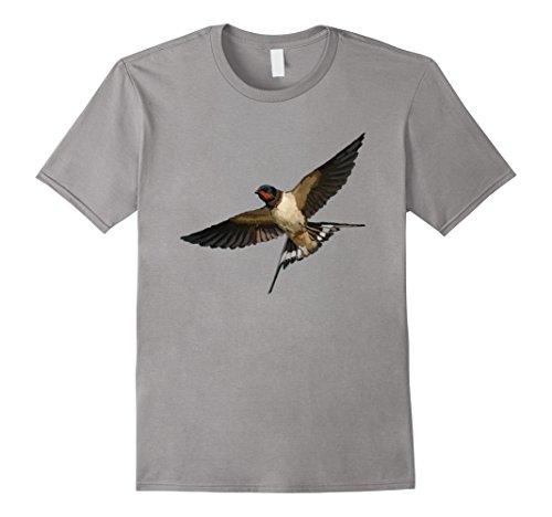 Mens Barn Swallow Bird T Shirt Tshirt tee Medium Slate