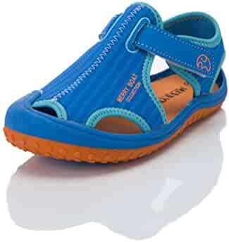 8df864faba69 HILEELANG Kids Boy Girl Aquatic Water Shoe Closed Toe Sport Beach Sandals  Light Weight (Toddler