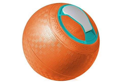 YayLabs! F-SS-QT-Orange Softshell Ice Cream Ball, Orange, Quart