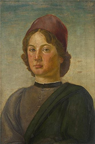 Perfect Effect Canvas ,the Replica Art DecorativePrints On Canvas Of Oil Painting 'Italian, Florentine-Portrait Of A Young Man,1475-1500', 8x12 Inch / 20x31 Cm Is Best For Home Theater Artwork And Home Artwork And Gifts