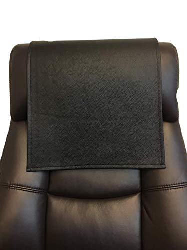 luvfabrics Vinyl, Faux Leather Champion Black 14x30 Sofa Loveseat Chaise Theater Seat, RV Cover, Chair Caps Headrest Pad, Recliner Head Cover, Furniture Protector