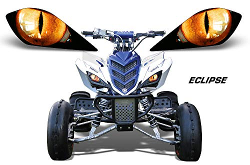 ight Eye Graphic Decal Cover for Yamaha Raptor 700/250/350 - Eclipse (Orange) ()