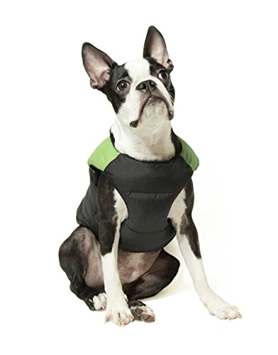 Picture of Gooby - Padded Vest, Dog Jacket Coat Sweater with Zipper Closure and Leash Ring, Green, X-Large