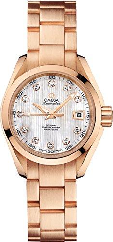 Omega Seamaster Aqua Terra Solid 18K Rose Gold Women's Luxury Watch (Omega Seamaster Aqua Terra Ladies)
