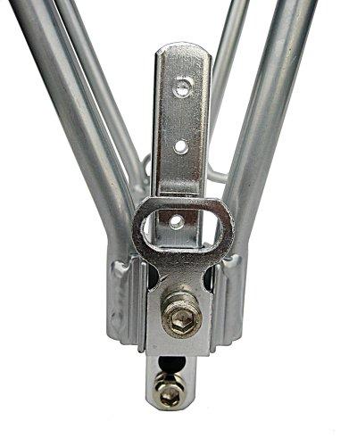 Rack Rear Silver 2 Leg Aluminum Rear Bike Rack Silver
