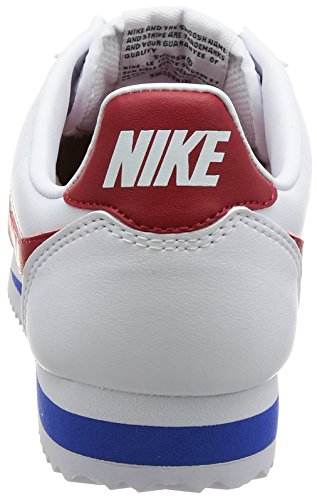 Nike Wmns Classic Cortez Leather, Zapatillas de Trail Running Para Mujer Blanco (White/Varsity Red/Varsity Royal 103)