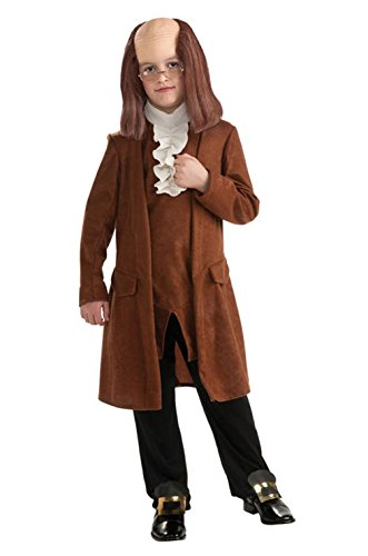 [Mememall Fashion Benjamin Franklin Deluxe Child Boys Costume] (Deluxe Plush Cow Mascot Costumes)