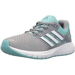 adidas Performance Women's Duramo 8 W Running Shoe, Mid Grey/White/Easy Mint, 6 M US
