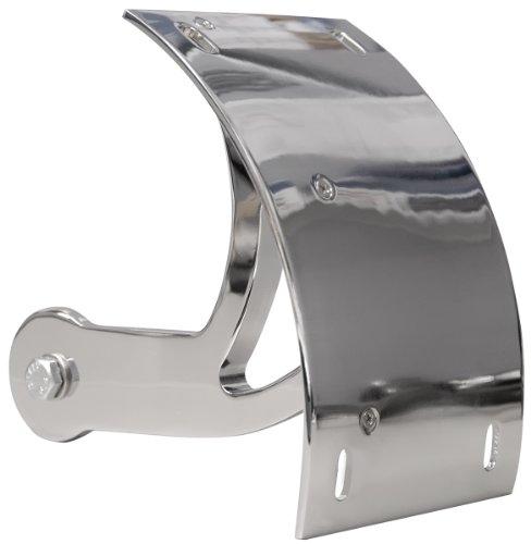 Yana Shiki CYS2549055 Chrome License Plate Frame Swing Arm Mount Tag Bracket for Suzuki Boulevard - Arm License Swing Plate