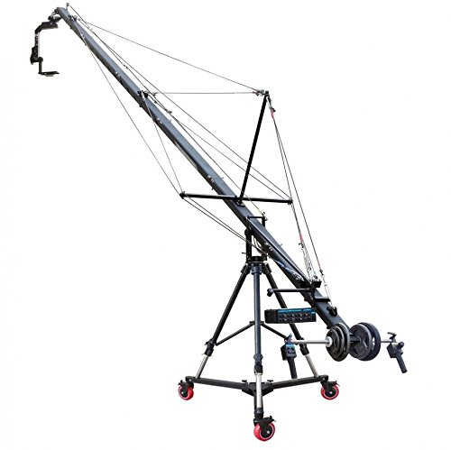 PROAIM 23.9ft Fraser Jib crane Pan tilt head Gravity Stand and Anchor Dolly Case by PROAIM