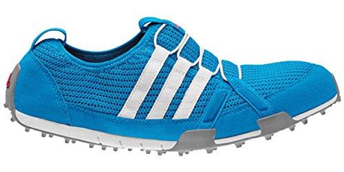 adidas Women's Climacool Ballerina Golf Shoe,Solar Blue/White/Metallic Silver,7.5 M US