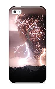 Awesome Volcanic Lightning Flip Case With Fashion Design For Iphone 5c