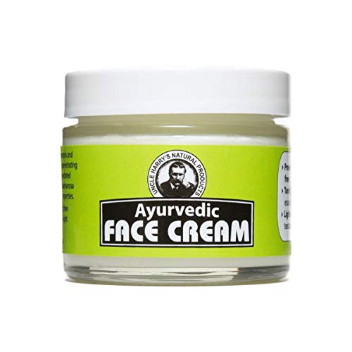 Uncle Harry's Ayurvedic Face Cream (2 Oz Glass Jar) (Best Ayurvedic Cream For Acne)