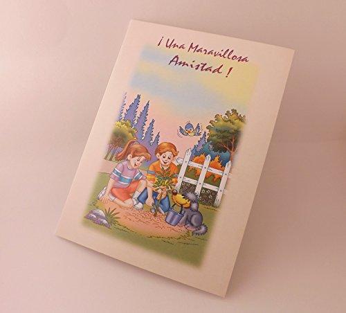 Una maravillosa Amistad ! --- tarjeta -- Spanish Greeting Card David's Momentos 11