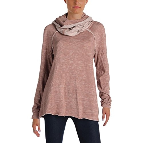 Free People Beach Womens Cotton Cowl Neck Pullover Sweater