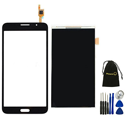 Mencia LCD Display Digitizer Ribbon Screen Replacement + Touch Digitizer Glass Lens Screen Replacement For Samsung Galaxy Mega 2 SM-G750 G750F G750A G750H With Opening Tools(Black) (Samsung Galaxy 2 Repair Kit compare prices)