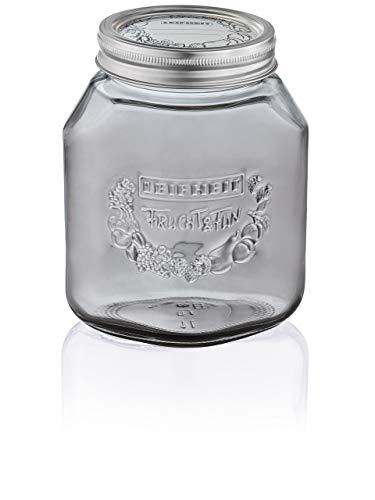 Leifheit Preserving Glass Jar, Smokey Grey, 1 (Best Leifheit Glass Jars)