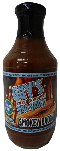 Guy's Award Winning Sugar Free BBQ Sauce, Smokey Bacon ()