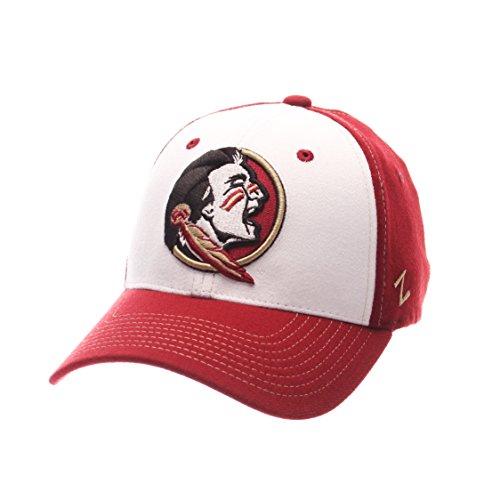 NCAA Florida State Seminoles Adult Men Bleacher Z-Fit Hat,X-Large,White/Tc